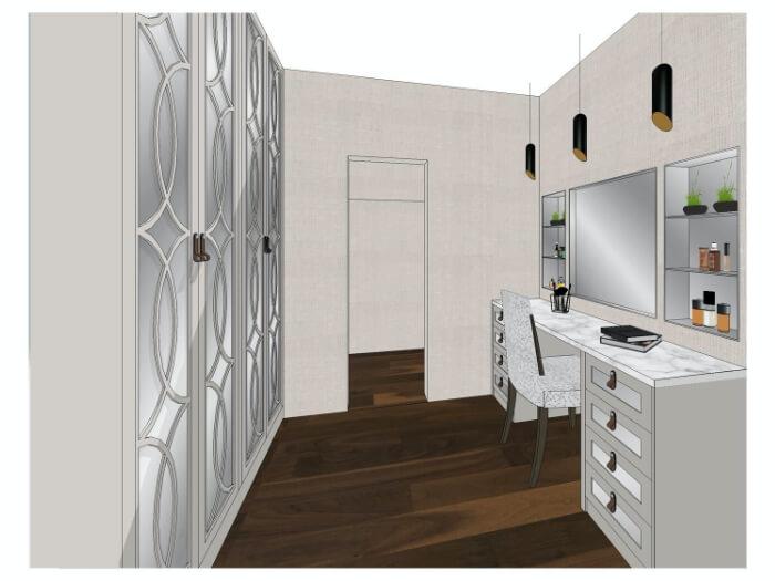 3D drawing of interior design